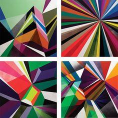 Matt W. Moore Crystals & Lasers poster sets