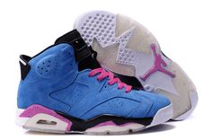 Jordan 6 Suede Military Blue Pink Black White