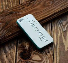 3D printed iPhone 5 Case. Letters cut out! Available on www.theprintables.net