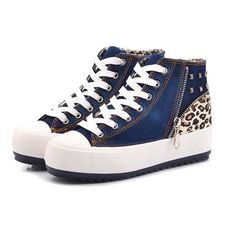 Summer shoes for women sweet leopard print stitching sneakers YD-6828