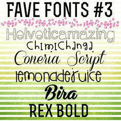The Crafty Scientist: Fave (Free!) Fonts #3