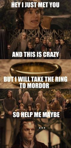 Ha! Love the shot of Elrond paired with the ...