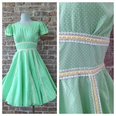 Size S  1950s Swing Dress  Square Dance Dress  by 58petticoats