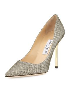 Abel Glitter Pointed Pump, Light Bronze by Jimmy Choo at Neiman Marcus.