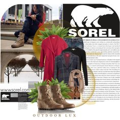 Show Us Your Winter SOREL Style: Contest Entry by katrina-byrd-jones on Polyvore featuring Burberry, Chesca, Vivienne Westwood Red Label, Armani Jeans, SOREL, MICHAEL Michael Kors, Adele Marie, Acne Studios and Nearly Natural
