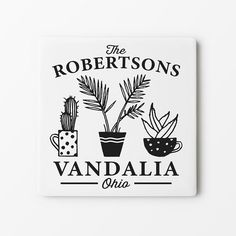 Gifts For Gardeners Sandstone Coasters, Personalized Coasters, City State, Plant Design, Gardening, Room, Gifts, Bedroom, Presents