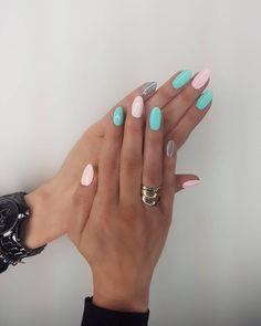 Idealne na lato #naturalnails #hybridnails #hybridlove #neonailpoland #indygonails #meraclenails #proteinbase #mintnails #pinknails