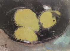 Helene Schjerfbeck, Three Pears in a Vase, 1945
