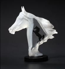 "Lucite/Acrylic/Metal Sculpture ""Royal Arabian"""