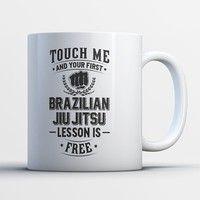 BJJ gift Brazilian jiu Jitsu mug Cage fighter Legendary Train Smart Fight Hard