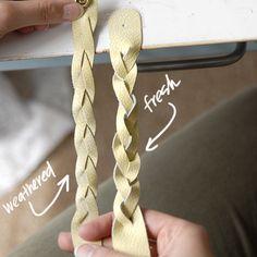 DIY braided leather cuff