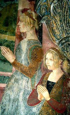 Bianca di Monferrato,Duchess of Savoy and her younger sister Giovanna by the Maestro di Crea,1474-79