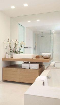 Scandinavian Bathroom Interior Design space isn't a dream! White Interior Design, Bathroom Interior Design, Modern Interior, Bathroom Designs, Bathroom Ideas, Modern Luxury, Bathroom Pictures, Wall Pictures, Bathroom Inspo