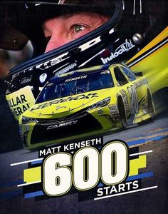 Matt Kenseth's 600th career start @ Watkins Glen, New York on August 7, 2016 Matt started 4th and finished 10th