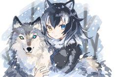 friends wolf kemono anime furry gray communication social neko kawaii フレ イラスト フレンズ もの werewolf dashboard