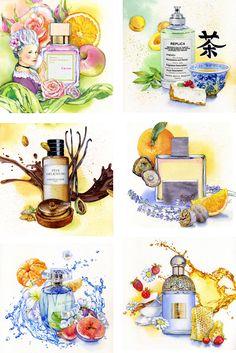 Beauty Illustration, Cute Illustration, Watercolor Illustration, Watercolor Paintings, Watercolour, Special Pictures, Iphone Background Wallpaper, Bottle Art, Food Illustrations