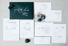 Calligraphed Wedding Invitation Collection by Hazel Wonderland via Oh So Beautiful Paper (1)