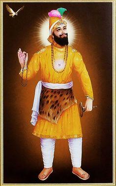 Guru Govind Singh - Sikh Posters (Reprint on Paper - Unframed) Guru Nanak Ji, Nanak Dev Ji, Guru Tegh Bahadur, Guru Nanak Wallpaper, Shri Guru Granth Sahib, Warriors Wallpaper, Guru Gobind Singh, Punjabi Culture, Download Wallpaper Hd