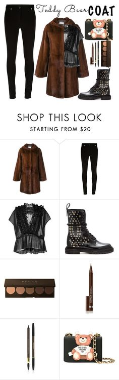 """""""Teddy Bear"""" by chiaral95 ❤ liked on Polyvore featuring Yves Salomon, Givenchy, Burberry, Becca, Clinique, Yves Saint Laurent, Moschino, contest and teddybearcoats"""