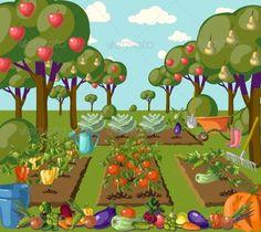Garden Garden clipart Organic gardening Vegetable farming