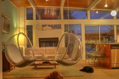 Living room- bubble chairs