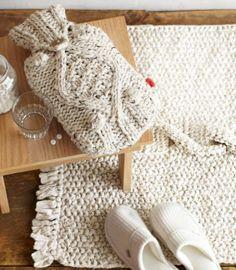 Decoración y mobiliario realizado con crochet
