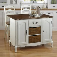 Home Styles 551 French Countryside Kitchen Island Set at ATG Stores