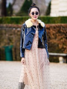 The Coolest Ways to Wear a Sheer Dress in the Winter