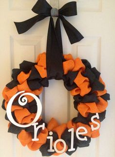 Baltimore Orioles wreath on Etsy, $50.00 Available at Addicted To Decor's shop on Etsy!!