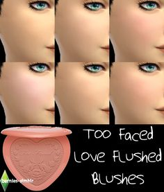 Too Faced Love Flushed blush at Bernie's Sims 4 Simblr via Sims 4 Updates