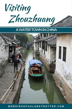 """Zhouzhuang Water Town is a town near Shanghai, China that is famous for its canals and bridges. It is often called """"the Venice of the East""""."""