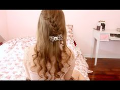 Cute Easy Winter Hairstyle (Lace Braid)