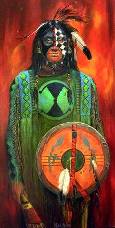Painting Gallery - Native American Portraits | Karen Clarkson - Choctaw