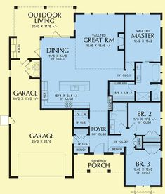 Modern Farmhouse Style House Plan 81205 with 1878 Sq Ft , 3 Bed , 2 Bath Cabin House Plans, Best House Plans, Bedroom House Plans, Country House Plans, House Floor Plans, Modern Farmhouse Style, Farmhouse Contemporary, Craftsman Farmhouse, Contemporary Style Homes