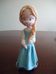 Elsa Frozen topo de bolo
