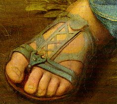 "Attn: all Italian shoe designers: please make the sandals worn by Mary in the ""Alba Madonna"" painted by Raphael c. 1510, and contact me when I can buy them."