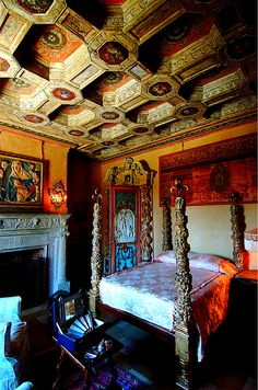 Bedroom, Hearst Castle, San Simeon, California