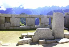 Temple of the Three Windows, Peru - Temple of the three windows in Machu Picchu. When the sun shines through the windows, a shadow is cast in front of the stone on the left to complete the Andean cross. #machupicchu #peru