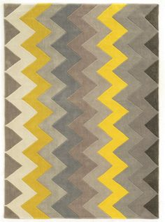 Trio Grey Chevron Rug...would tie our new black couch and yellow chair perfectly!