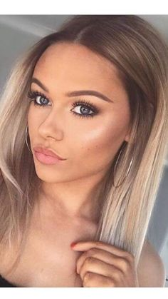 Balayage Blonde Ends - 20 Fabulous Brown Hair with Blonde Highlights Looks to Love - The Trending Hairstyle Sandy Blonde Hair, Hair Blond, Sandy Brown Hair, Blonde Hair Makeup, Blonde Curls, Blonde Dip Dye Hair, Blonde Hair On Brunettes, Ombre Hair Bob, Dyed Hair