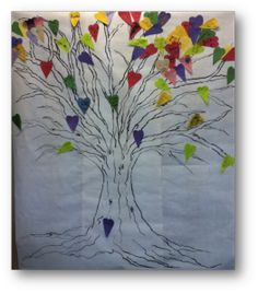 We took this original pin from Pinterest... And turned it into.... Tree of Hope Activity We created a tree for our Healing Hearts Club Camp and asked the participants to add a heart to the tree as ...
