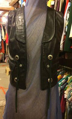 Vintage Black Leather Vest by Schott NYC Sportswear by BarnAttic