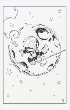 Superior Spider Man Skottie Young Marvel Baby Variant Cover Original Art | eBay