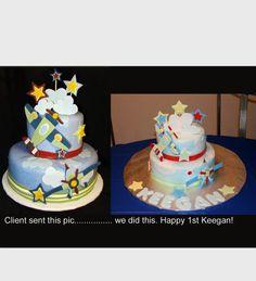 birthday plane cake
