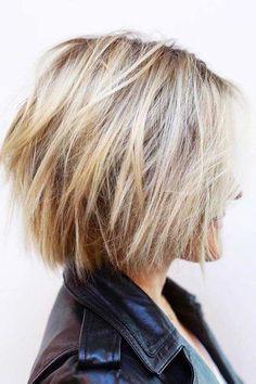 Short Blonde Hairtyles for Thick Hair #Bobhaircut