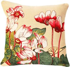 Cyclamen French Cushion