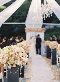 20 ideas wedding outdoor ceremony aisle flower for 2019 Aisle Flowers, Wedding Ceremony Flowers, Wedding Ceremony Decorations, Wedding Ceremonies, Wedding Centerpieces, Wedding Reception, Wedding Dress, Perfect Wedding, Fall Wedding