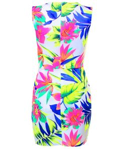 LOVE Tropical Print Bodycon Dress - In Love With Fashion