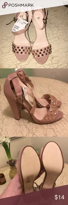 ac220a91756 H M Studded Block Heeled Sandals -New with Tags! -Some small unnoticeable  marks from