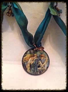 Gaea's Blessing Silk Necklace / Magic The Gathering on Etsy, $26.00